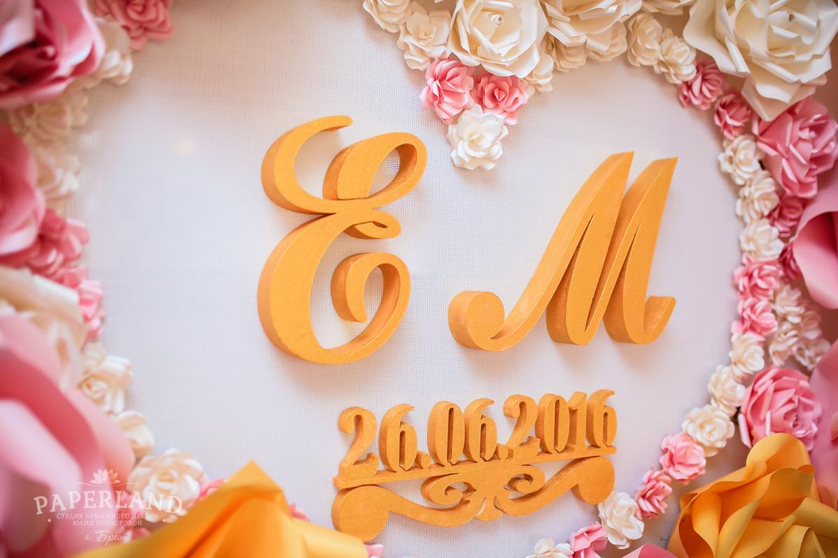 Фотозона баннер на свадьбу