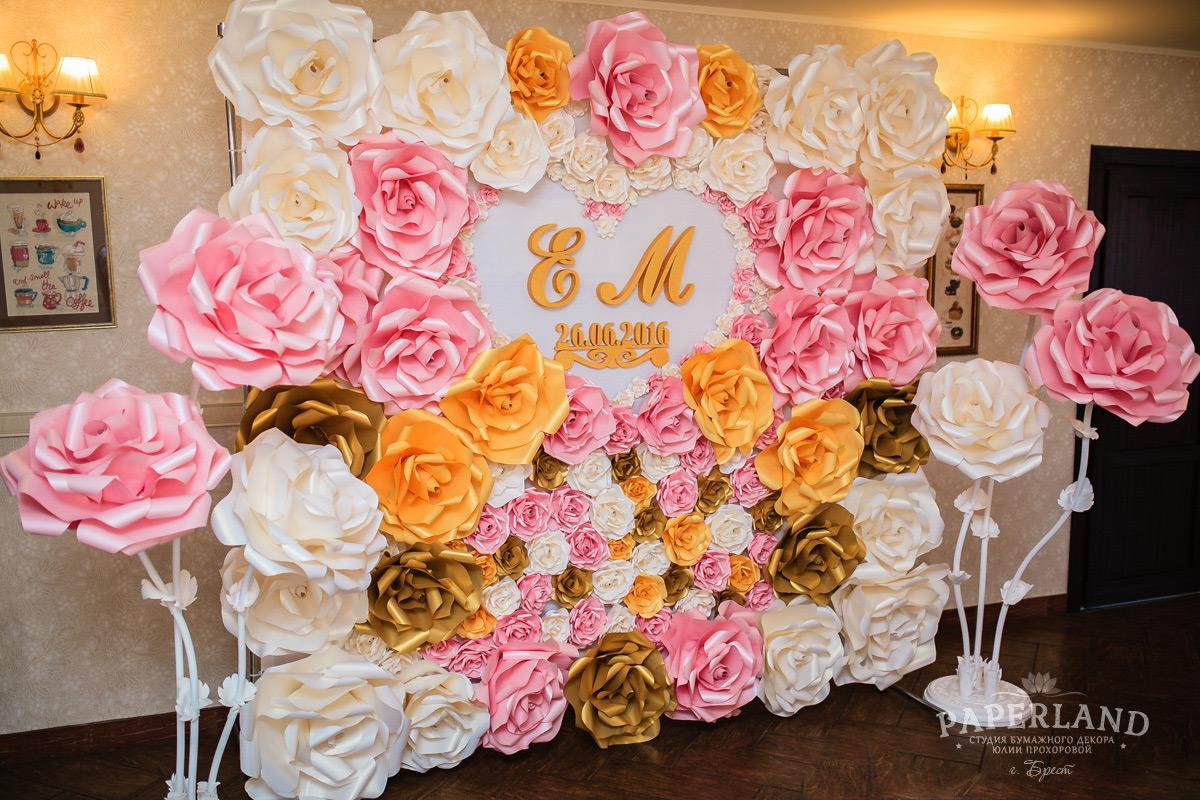 Фотозона на свадьбу цветы