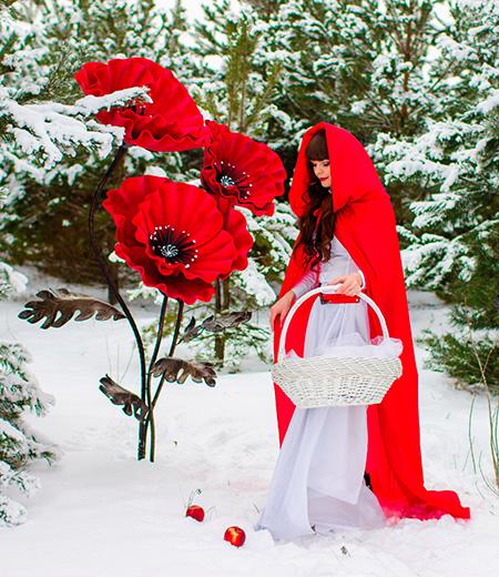 Красная шапочка в волшебном лесу