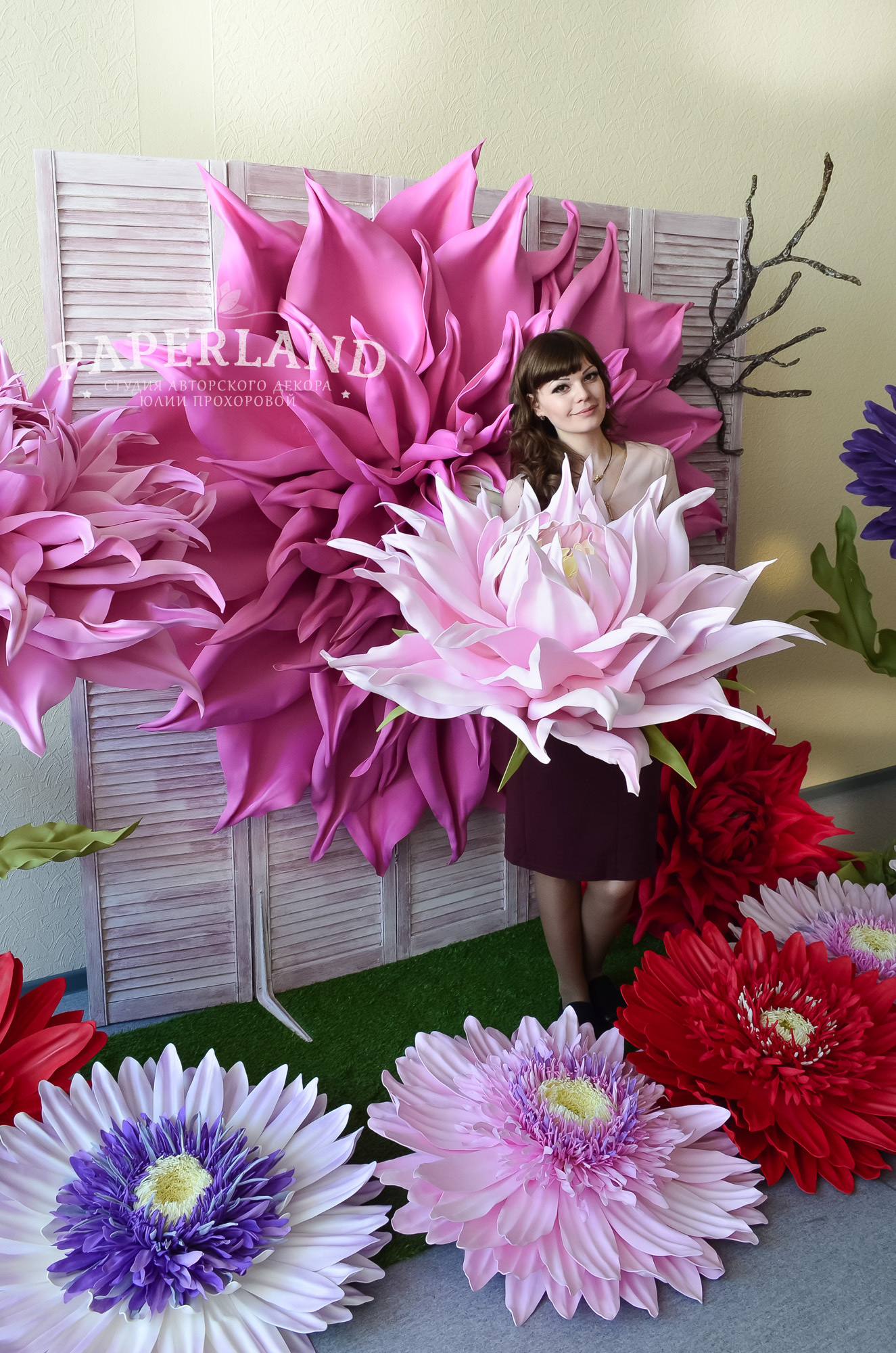 Мастер-класс по гигантским цветам. Москва, 17-18 апреля