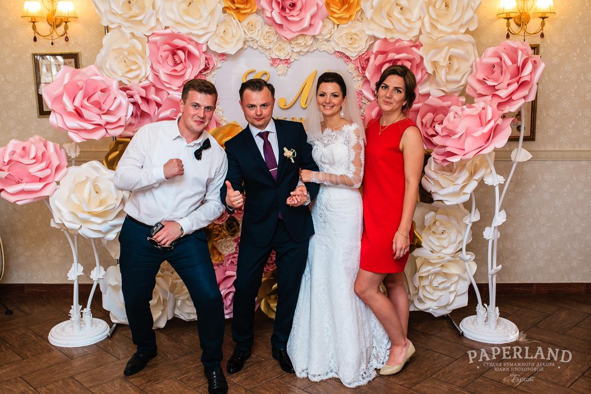 Бумажные цветы для свадьбы