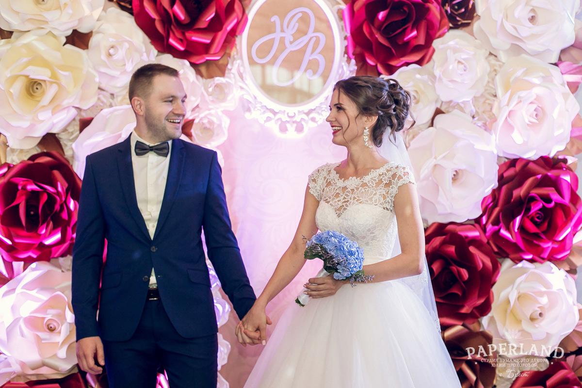 Свадебный декор цветами