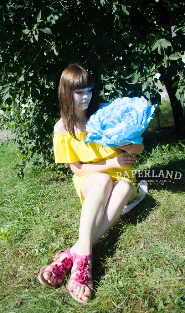Синие большие цветы