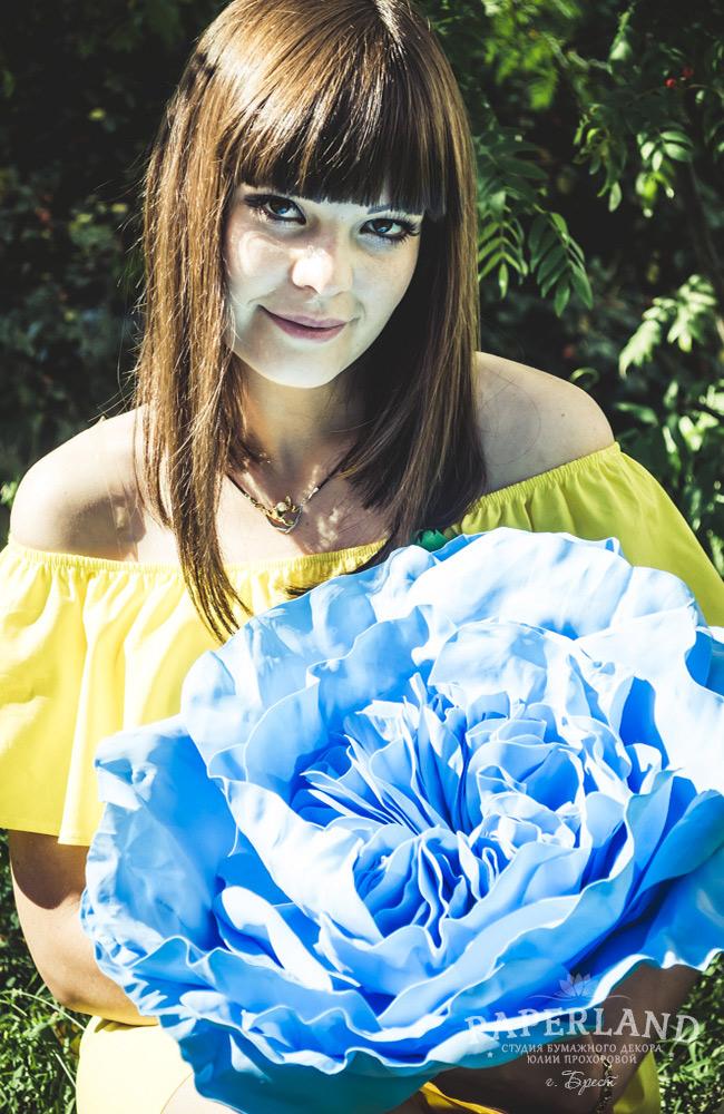 Пионовидные розы, свадебный букет