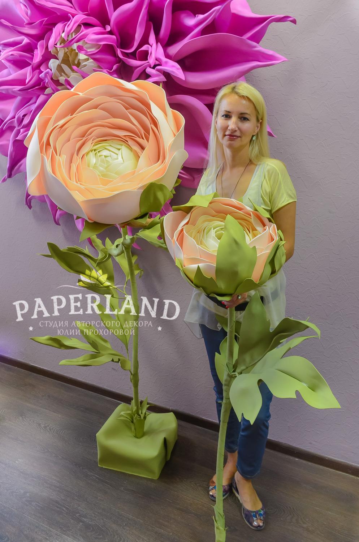 Обучению созданию больших цветов в Москве